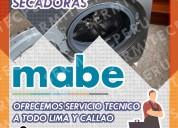 Exclusivos técnicos de lavadoras mabe