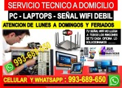 Servicio tecnico a pc internet repetidores wifi