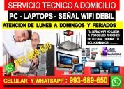Servicio tecnico wifi pc laptops 993689650
