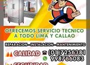 Mantenimiento correctivo mesa fría 998766083 lima