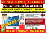 Tecnico de internet pcs laptops repetidores wifi