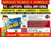 Servicio tecnico arepetidores wifi pc laptops