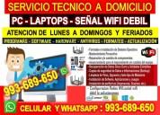 Servicio tecnico a internet repetidores pc laptops