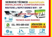 Tecnico de cableados repetidores wifi a domicilio