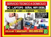 Tecnico de internet pc laptops repetidores wifi