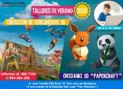 Vacaciones utiles 2020: videojuegs 3d y origami 3d