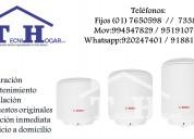 Servicio técnico de termas a gas eléctricas bosch