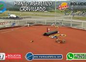 Colocación de manto asfaltico