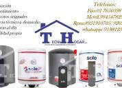 Reparaciones servicio técnico de termas a gas sole
