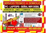 Tecnico de internet cableados de red pc laptops