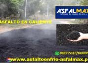 Venta de asfalto en frio de saco de 25 kilos
