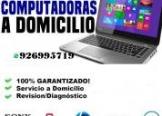 Soporte tec. reparaciones laptops pc a domicilio