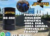 Venta de emulsion asfaltica- asfalto liquido rc250