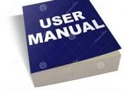 Desarrollo de manuales de usuarios y técnicos