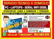 Servicio tecnico a internet pc laptops  cableados