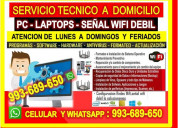 Servicio tecnico a internet pcs laptops routers