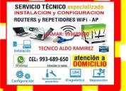 Tecnico internet configuracion routers cableados