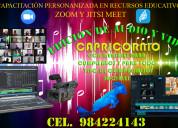 CapacitaciÓn en zoom  y ediciÓn de audio y video