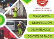 Servicio de desinfección (covid-19) y fumigación