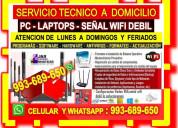 Tecnico internet pcs laptops formateos cableados