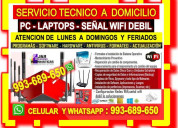Tecnico wifi pcs laptops repetidores cableados red