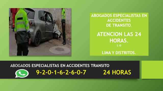 abogados especialistas en accidentes de transito