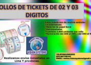 Rollos de tickets de atencion