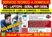 Tecnico wifi repetidores pcs laptops cableados