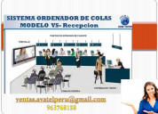 Sistemas de colas modelo recepcion