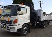 Hino 500 fm 2626 año 2014 camión grúa 6x4