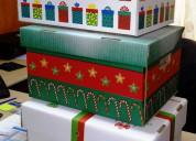 Cajas navideÑas de carton 2020