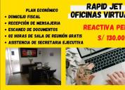 Alquiler de oficina virtual reactiva peru