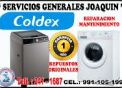 Servicio técnico de secadoras  lavadoras  coldex