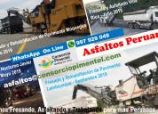 Fresado de asfalto costo x m2 pavimentos y obras v