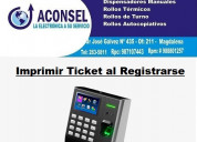 Imprimir ticket al registrarse