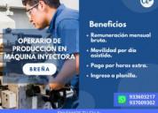 Ayudante de maquina inyectora-lima