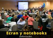 Alquiler notebooks / ecran / micrófonos en lima/