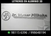 Letras en 3d y letreros luminosos