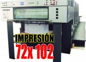 Impresión 70 x 100 cm máquina heidelberg 4 colores