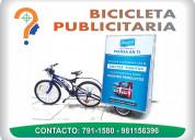 Bicicleta publicitaria para su marca