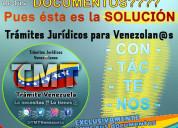 Solicitud de documentos para venezolanos