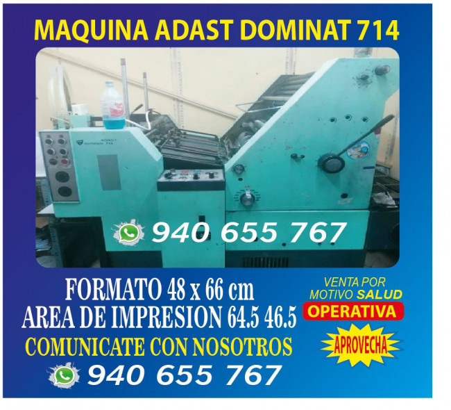 MAQUINA ADAST DOMINANT 714
