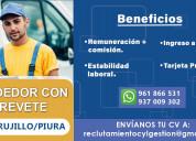 Conductor vendedor con licencia a1 - trujillo