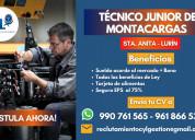 Técnico junior montacarga - planilla - sta. anita