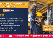 Técnico mecánico en maquinaría agrícola