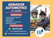 Ayudante mecánico armador automotriz - la molina