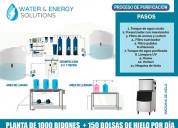 Planta purificadora de agua de 1000 bidones por dí
