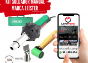 Kit soldador manual marca leister